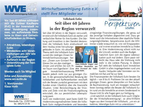 Volksbank Eutin im reporter